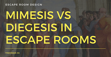 Mimesis vs Diegesis in Escape Rooms - the Codex